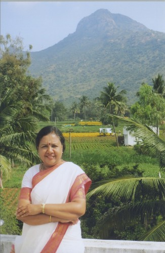 In front of Arunachala in Thiruvannamalai, India