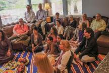 The attendees at the Shiva Puja