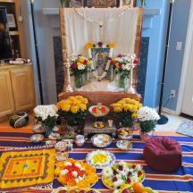Altar at the Satsang Shiva Puja, 2015